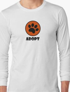 Adopt (Paw Print) Long Sleeve T-Shirt