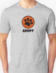 Adopt (Paw Print) T-Shirt