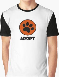 Adopt (Paw Print) Graphic T-Shirt