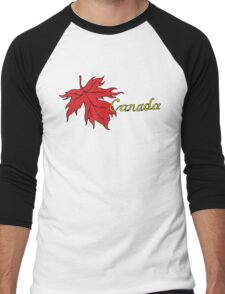 Canada Maple Leaf T-Shirt Men's Baseball ¾ T-Shirt