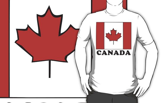 Canada Flag T-Shirt Canadian Flag T-Shirt by HolidayT-Shirts