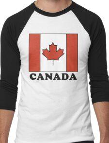Canada Flag T-Shirt Canadian Flag T-Shirt Men's Baseball ¾ T-Shirt