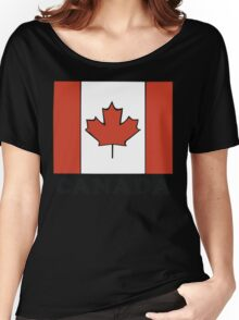 Canada Flag T-Shirt Canadian Flag T-Shirt Women's Relaxed Fit T-Shirt