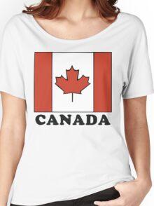 Canada Flag T-Shirt Canadian Flag T-Shirt Women's Relaxed Fit T-Shirt