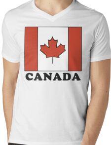 Canada Flag T-Shirt Canadian Flag T-Shirt Mens V-Neck T-Shirt