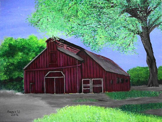 Red barn 4 by maggie326