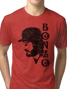 DISTRESSED BLACK BONZO Tri-blend T-Shirt