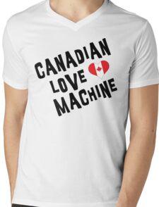 Canadian Love Machine T-Shirt Mens V-Neck T-Shirt