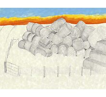 Falling haystack Photographic Print
