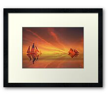Sailing on red Sea Framed Print