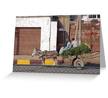 Transportation by donkey Greeting Card