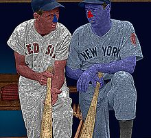 Dimaggio and Williams Yankees Red Sox Culture Cloth Zinc Collection by CultureCloth