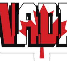 Canadian T-Shirt Sticker