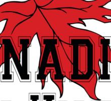Canada Canadian Girls Kick Ass Women's T-Shirt Sticker