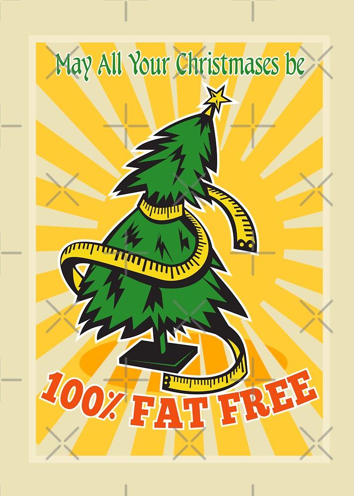 Fat Free Christmas Tree Tape Measure by patrimonio
