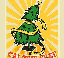 Calorie Free Christmas Tree Tape Measure by patrimonio