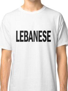 lebanese. Classic T-Shirt