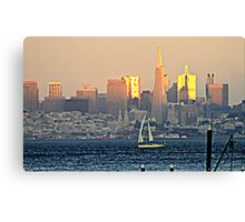 San Francisco Sunset... Canvas Print