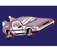 3-Delorean Photographic Print