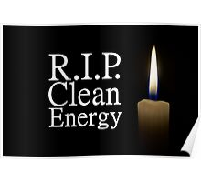 rip clean energy typo candle Poster