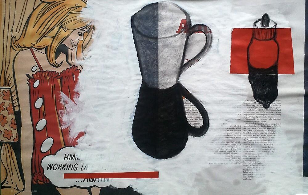 Newsprint Still Life #2 by zoe trap