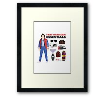 Back to the Future : Time Traveler Essentials 1985 Framed Print