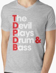 The Devil Plays Drum & Bass Mens V-Neck T-Shirt