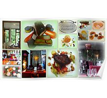 Fine Food Collage Poster