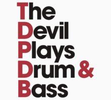 The Devil Plays Drum & Bass (black) Kids Clothes