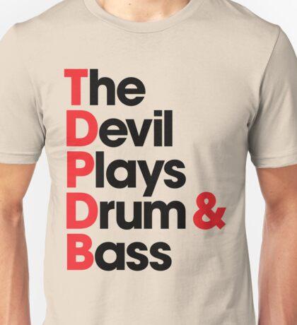 The Devil Plays Drum & Bass (black) Unisex T-Shirt
