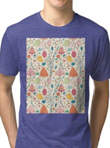 Plant Pattern Color 3 Tri-blend T-Shirt