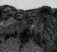 The Stone-Faced Presidents (Mt. Rusmore, South Dakota) by Terence Russell