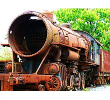 Rusted Steam Engine Photographic Print