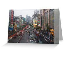 Tokyo in the Rain Greeting Card
