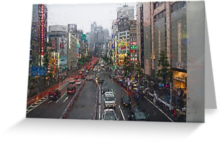 Tokyo in the Rain by Sue  Cullumber