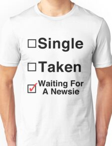 Waiting for a Newsie Unisex T-Shirt