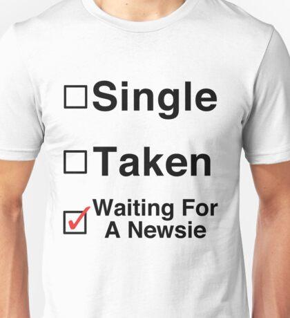 Waiting for a Newsie Unisex T-Shirt