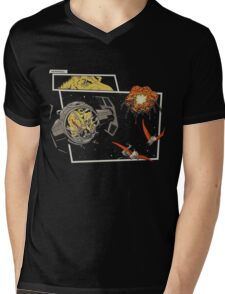 Tie Rex and the Rebeldactyls Mens V-Neck T-Shirt