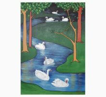 A Flock of Seven Swans-A-Swimming ..... One Piece - Long Sleeve