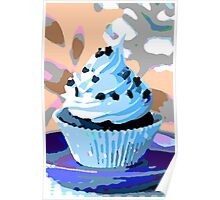 Chocolate Cupcakes with Blue Buttercream Poster