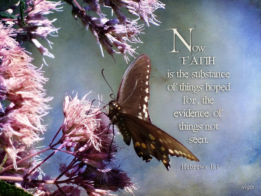 Heb. 11:1~Faith is by vigor