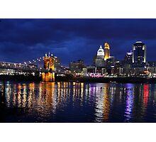 Storm Over Cincinnati Photographic Print