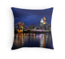 Storm Over Cincinnati Throw Pillow