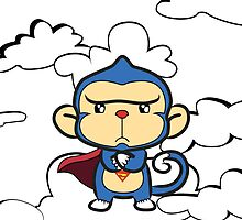 Supermonkey float around the clouds... by Shartzer