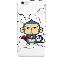 Supermonkey float around the clouds... iPhone Case/Skin