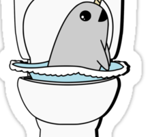 Narwhal In My Toilet Sticker