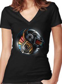 Daft Yin-Yang Women's Fitted V-Neck T-Shirt