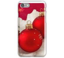 Three red Christmas balls  iPhone Case/Skin
