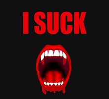 I Suck - Vampire - (Designs4ou) Womens Fitted T-Shirt
