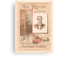 NO ROOM (vintage illustration) Canvas Print